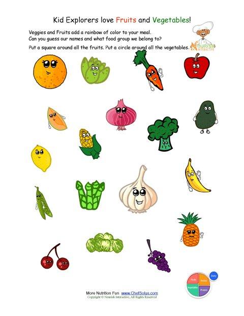 printable identify the fruits and vegetables worksheet. Black Bedroom Furniture Sets. Home Design Ideas