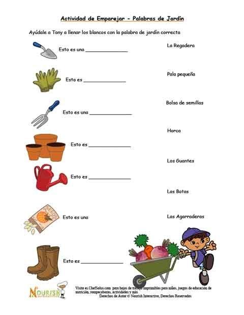 Emparejar las herramientas de jardiner a para ni os - Herramientas de jardineria ...