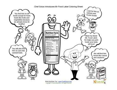 Chef Solus Introduces the Food Label Coloring Sheet