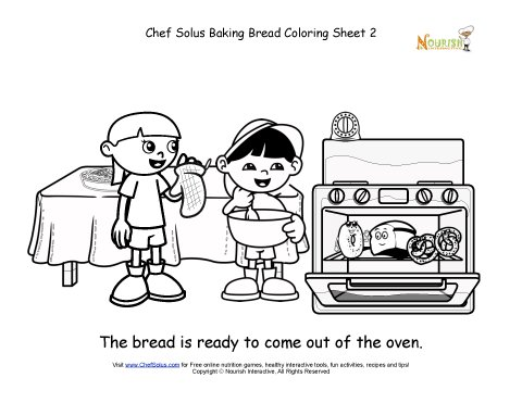 Explorer Kids Baked Bread Is Ready Coloring Sheet