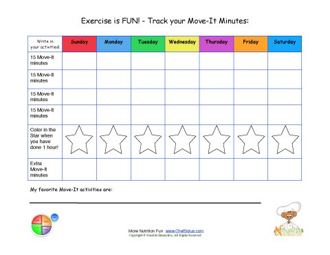Printable Write In Daily Activity Tracking Sheet Move