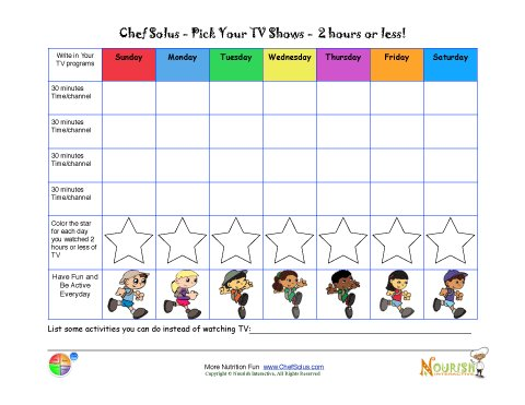 242 Children Family Healthy Goals Color Limit Tv Screen Time Activity Trackers on Bill Of Rights Activity Sheet