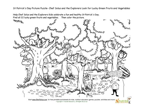 Find the Lucky Green Fruits and Vegetable Forest