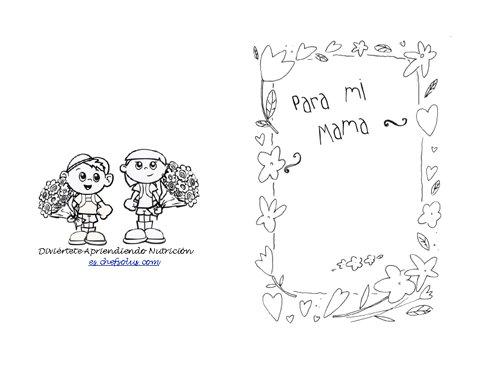 Día Festivo 6 Página de Colorear - Tarjeta Para el Día de las Madres