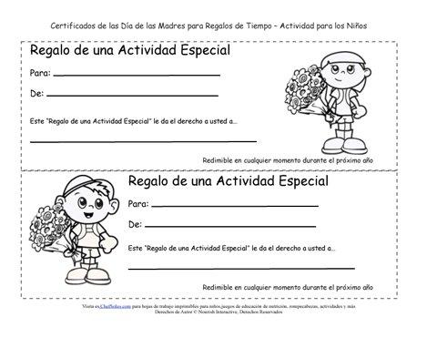 Páginas Imprimibles para Colorear de Certificados de Regalo para el ...