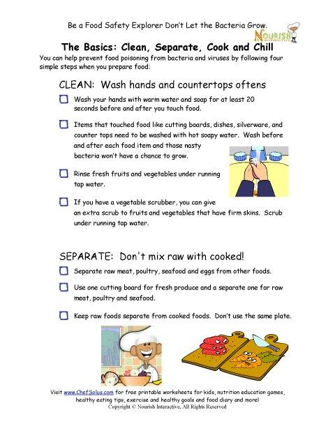 Sensational Chef Solus Food Safety Rules Checklist For Children In The Download Free Architecture Designs Scobabritishbridgeorg