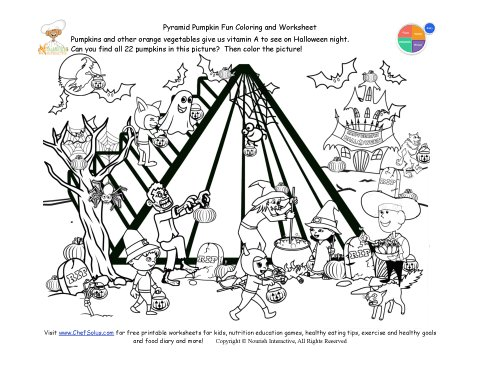Holidays 10 Find the Hidden Pumpkin Food Pyramid Activity