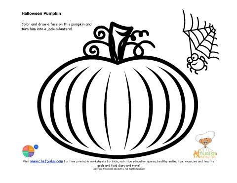 Kids' Jack-O-Lantern Drawing and Coloring Page