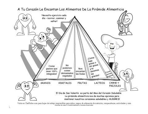 San valent n y los grupos alimenticios p gina de colorear - Piramide alimenticia para ninos para colorear ...