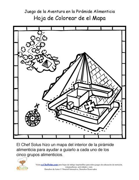 P gina para colorear del mapa del juego de la aventura de la pir mide alimenticia para ni os - Piramide alimenticia para ninos para colorear ...
