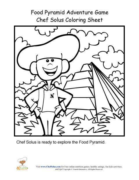 Food Pyramid Adventure Game Chef Solus Coloring Page