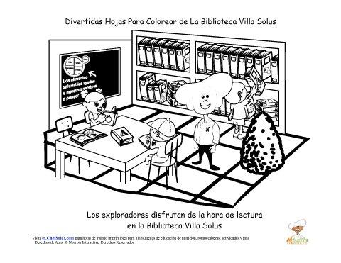 Biblioteca Para Colorear Infantil - tongawale.com