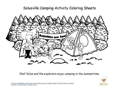 Chef Solus Camping Coloring Sheet