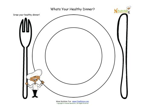 Draw Your Healthy Dinner On Your Plate Activity