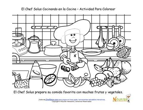 hojas de actividades para la academia de cocina para nios