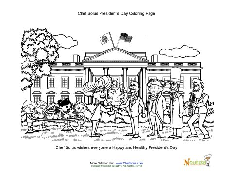 President's Day Kids Fun Coloring Worksheet