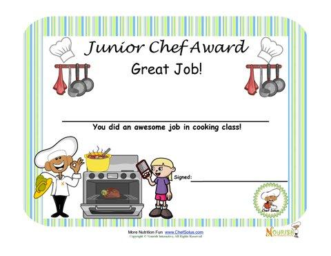 Junior Chef Cooking Award for Children