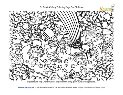 Transformative image pertaining to st patrick's day printable coloring pages