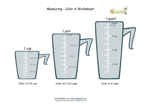 Worksheet Cooking Measurements Worksheet measuring and cooking for kids color in worksheet