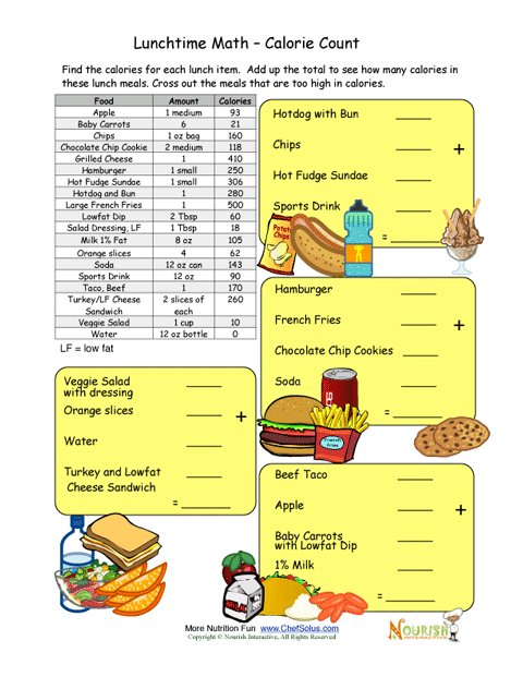 Nerdy image in free printable nutrition worksheets