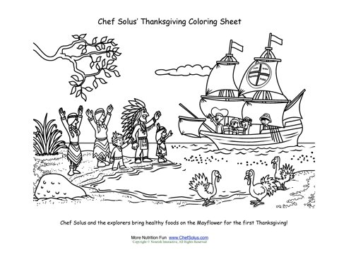 Chef Solus First Thanksgiving Coloring Page