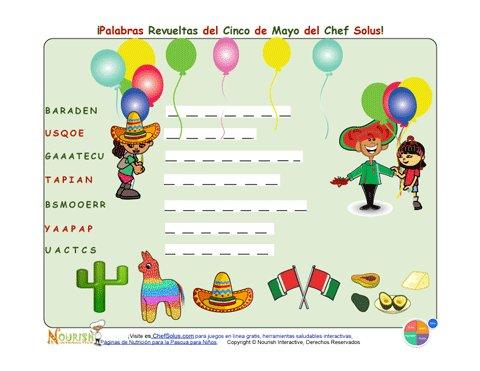 Fiesta 6 cinco de mayo divertida sopa de letras para ni os - Literas divertidas para ninos ...