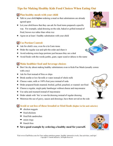 Tips For Making Healthy Kids Food Choices When Eating Out
