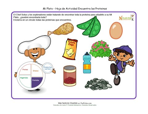 Actividad De Mi Plato Para Ni 241 Os Grupo Alimenticio De