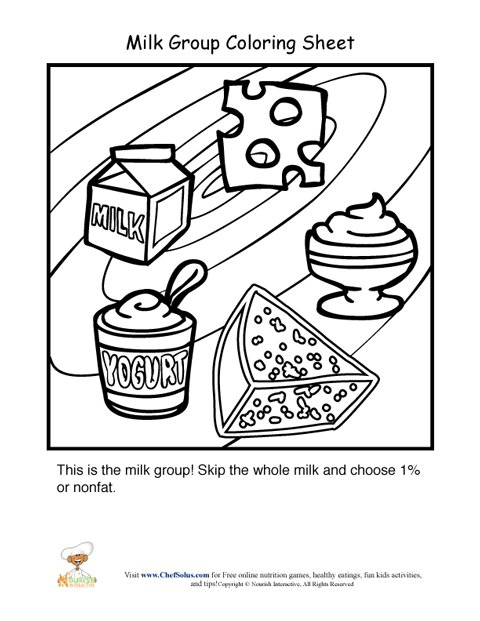 dairy products coloring pages - photo#6