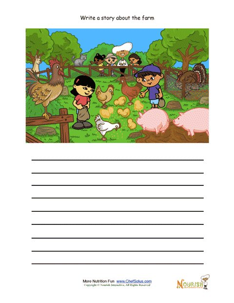 creative writing activity for elementary school children farm animals being fed. Black Bedroom Furniture Sets. Home Design Ideas