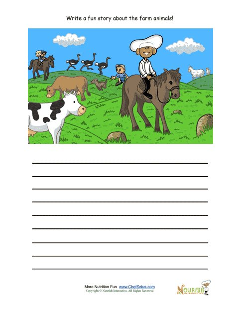 creative writing activity for elementary school children riding horses at the farm. Black Bedroom Furniture Sets. Home Design Ideas