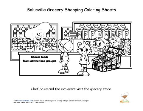 grocery store coloring pages - photo#8