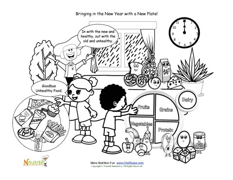 food plates coloring pages - photo#19