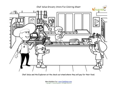grocery store coloring pages - photo#10