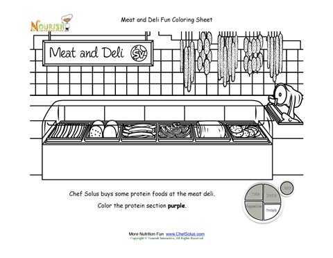 grocery store coloring pages - photo#28