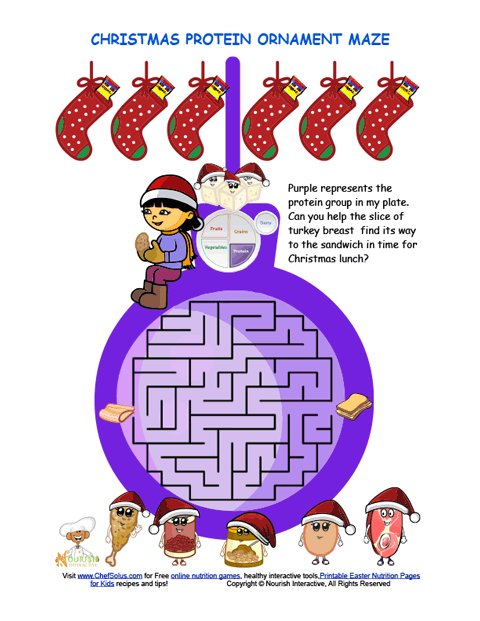 Holidays 12 Christmas Maze for Kids Featuring the Protein