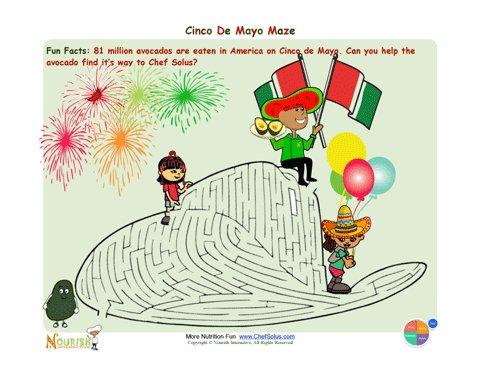 Holiday 6 Cinco de Mayo Sombrero Maze Fun For Children ...