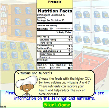 food label nutrition facts for kids
