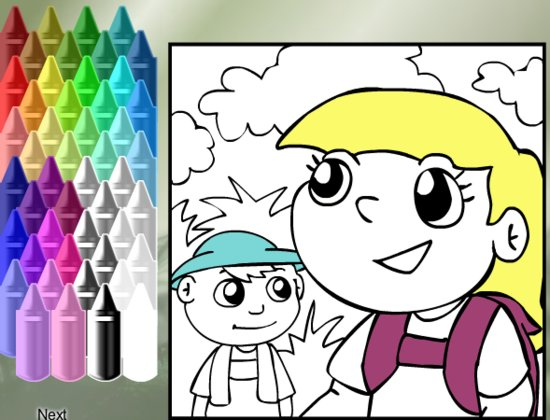 Online Food Coloring Pages For Kids- Fun Virtual Healthy