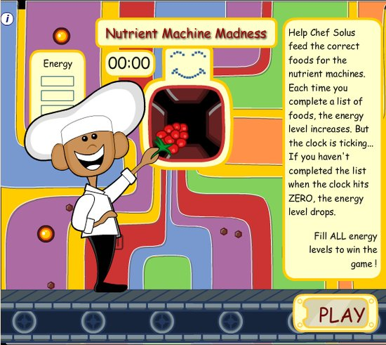 Nutrient Machine Madness Game